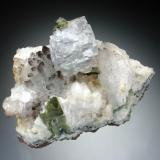 Fluorite on Quartz East Pool Mine, Redruth, Cornwall 6x4x3 cm (Author: Jesse Fisher)