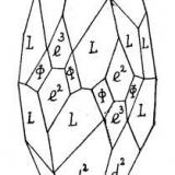 Calcite Rhisnes - Namur Prov., Belgium Drawing of the 2d Crystal (photo) (Author: Roger Warin)