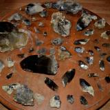 total haul of smoky quartz crystals from the pocket all cleaned up (Author: thecrystalfinder)