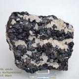 Sphalerite, calcite Nenthead Mine, Northumberland, Cumbria, England, UK 11 cm wide (Author: Roger Warin)