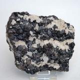Sphalerite, calcite Nenthead, Cumbria, England, UK 11 cm wide (Author: Roger Warin)