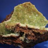 Adamite var Cuprian Ojuela Mine, Mapimi, Mun. de Mapimi, Durango, Mexico 14 x 11.5 cm (Author: Don Lum)