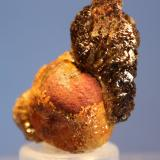 Adamite var Manganoan Ojuela Mine, Mapimi, Mun. de Mapimi, Durango, Mexico 4.0 x 3.0 x 2.0 cm ex Ron Pellar glassy deep purple crystals of Adamite (Author: Don Lum)