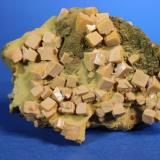 Wulfenite, Mottramite Ojuela Mine, Mapimi, Mun. de Mapimi, Durango, Mexico 7.5 x 5.5 cm (Author: Don Lum)