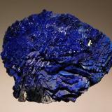Azurite Shilu Mine, Yangchun Co., Guangdong Prov., China 5.6 x 5.7 cm. A bright blue spherical azurite rosette. (Author: crosstimber)