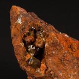 adamita Mina Ojuela, Mapimí, Durango, México 11x8 cm Detalle de la anterior (Autor: victor chaul chamut)