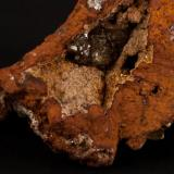Adamita Mina Ojuela, Mapimí, Durango, México 8x7 cm Detalle de la anterior (Autor: victor chaul chamut)