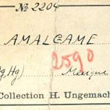 Moschellandsbergite H. Ungemach's label (Author: Roger Warin)
