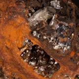 Adamita Mina Ojuela, Mapimí, Durango, México 13x11 cm Detalle de la anterior (Autor: victor chaul chamut)