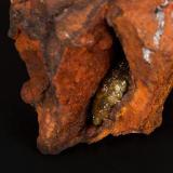 Adamita Mina Ojuela, Mapimí, Durango, México 10x8 cm Detalle de la anterior (Autor: victor chaul chamut)