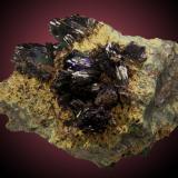 Azurita Touissit District, Oujda-Angad Province, Marruecos 10x7cm, cristales hasta 2cm (Autor: Raul Vancouver)