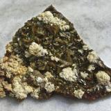 Siderita, calcopirita, ankerita-dolomita series Mina la Gitana, Abanto-Zierbena, Vizcaya, España. Ancho de imagen 10 cm. (Autor: María Jesús M.)