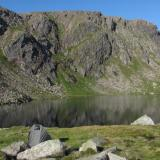 Wild camping by the Dubh Lochan ('Small Black Lake') at 3,000ft. A great place to stay and get away from 'civilisation' - I think that's what they call it. I saw some bipeds about a kilometre distant on one occasion, but apart from that I saw no-one for three days. (Author: Mike Wood)
