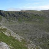 This is where these specimens came from, in the granite boulders in the bottom of the corrie. It's called 'Coire nan Clach' which translates from Gaelic as 'Corrie of Stones' - quite appropriate ! Needless to say I haven't examined every boulder in the corrie.. (Author: Mike Wood)