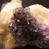 Fluorite, Calcite Josefa-Veneros vein (Josefa-Veneros Norte vein), Coroña de Arriba-La Collada, La Collada mining area, Siero, Asturias, Spain 7 x 8 cm (area shown) (Author: James)