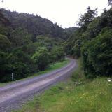 Road along side Tararu River. (Author: Greg Lilly)