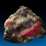 Rhodochrosite with Fluorite, quartz and kutnohorite.  Wutong Mine, Liubao, Guanxizhuang A.R., China 14.4 cm x 10.7 cm x 7.1 cm (Author: Gail)