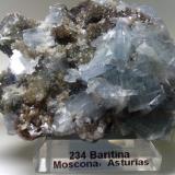 Baritina Mina Moscona, Solís, Zona Minera de Villabona, Corvera de Asturias, Asturias, España 6 x 4 x 3 cm (Autor: DavidSG)