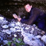 But it was worth the effort! Self-taken photo of me in the crystal cave, holding smoky quartz crystals.. More to follow... (Author: Mike Wood)