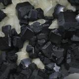 Fluorite, Calcite Josefa-Veneros vein (Josefa-Veneros Norte vein), Coroña de Arriba-La Collada, La Collada mining area, Siero, Asturias, Spain Largest crystal is 4.5 x 4.5 cm (Author: James)