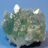 Apophyllite Ahmadnagar District, Maharashtra State, India 5.5 x 3.7 cm (Author: Don Lum)