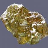 Esfalerita/Blenda Mina Las Mánforas, Áliva, Camaleño, Picos de Europa, Cantabria, España. Tamaño del cristal 2 x 2 cm (Autor: Antonio Carmona)