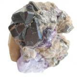 Cassiterite, fluorite, arsenopyrite Sauberg mine, Ehrenfriedersdorf, Erzgebirge, Saxony, Germany 5,5 x 4,5 cm (Author: Andreas Gerstenberg)