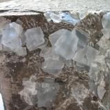 Fluorite Lieth quarry, Elmshorn, Schleswig-Holstein, Germany Picture width: 9 cm (Author: Andreas Gerstenberg)
