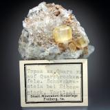 Topaz on Quartz Schneckenstein, Vogtland, Saxony, Germany 5x5x3 cm overall size (Author: Jesse Fisher)