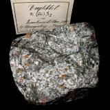 Emplectite, siderite, quartz Tannenbaum adit, Erla, Johanngeorgenstadt, Erzgebirge, Saxony, Germany 10 x 8,5 cm With old Maucher label. (Author: Andreas Gerstenberg)