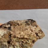 Cuarzo Barranco Jaroso, Sierra Almagrera, Los Lobos, Cuevas del Almanzora, Almería, Andalucia, España Parte cristalizada 5,5cm x 1cm x 6cm (Autor: srm13151)