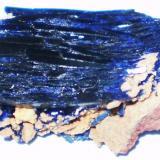 Cristal de Azurita Kerrouchen, Khénifra, Marruecos 3,5 x 3 cm (Autor: Juancho)