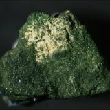 Xanthiosite, Aerugite Johanngeorgenstadt, Johanngeorgenstadt District, Erzgebirge, Saxony, Germany 1 x 1 cm (Author: keldjarn)