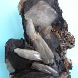 Baritina Barranco de las Nogueras, Zona Campos de Golf, Atamaría, Sierra Minera de Cartagena-La Unión, Cartagena, Murcia, España 17 x 13 cm (Autor: Pedro Conesa)