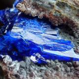 Linarita, Cuarzo Mina Gran Reef, Laurel Canyon, Aravaipa (Dist.), Graham (Co.), Arizona, USA 5,5 x 4,5 cm.  Detalle (Autor: javier ruiz martin)