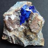 Linarita, Cuarzo Mina Gran Reef, Laurel Canyon, Aravaipa (Dist.), Graham (Co.), Arizona, USA 5,5 x 4,5 cm. (Autor: javier ruiz martin)