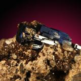 Azurita, cerusita Tsumcorp mine, Tsumeb, Otjikoto Region, Namibia cristal de 4.5cm Detalle del cristalito (Autor: Raul Vancouver)