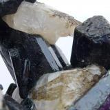 Diópsido, Fluorita y Calcita Mina Yates, Otter Lake, Outaonais, Québec, Canadá 7 x 6 cm.  Detalle (Autor: javier ruiz martin)