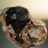 Andradita Mina de Cala, Cala, Huelva, Andalucía, España. Cristal de 1 cm. (Autor: Antonio Carmona)