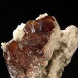 Esfalerita, Dolomita Mina Las Mánforas, Puerto de Áliva, Picos de Europa, Cantabria, España Detalle de un cristal de 10cm (Autor: Raul Vancouver)