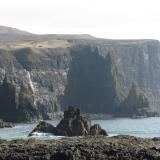 Biod a' Mhurain, Duirinish, Isle of Skye, Scotland  'The Land That Time Forgot' Dramatic scenery on the way to check out the calcite locality, where in the past I have collected some very nice rhombohedral crystals. (Author: Mike Wood)