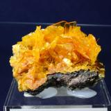 Wulfenite, Mimetite San Francisco Mine, Cerro Preto, Cucurpe, Mun de Cucurpe, Sonora, Mexico 6.2 x 4.0 cm (Author: Don Lum)