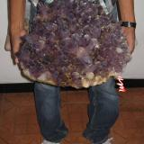 Amethyst Tehuilotepec 38cm diameter, 26 kilograms As of today this is the largest sample of good quality amethyst locality of Tehuilotepec, State of Mexico, Mexico now in Dennis Beals hands. (Author: jorgedavid)