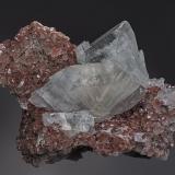 Barite, Calcite Frizington, West Cumberland Iron Field, Cumbria, England, UK 8.5 x 6.0 cm (Author: am mizunaka)