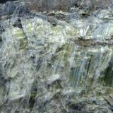 Anfíbol (variedad crisotilo) Sierra Nevada, Granada, Andalucía, España 10 x 9 x 5 cm. Detalle (Autor: Felipe Abolafia)
