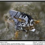Anatase and rutile Talèfre, Mont Blanc Massif, Chamonix, Haute-Savoie, Rhône-Alpes, France fov 3 mm (Author: ploum)