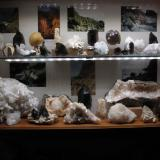 One half of my mineral display. Cabinet is 80cm x 50cm. Six (2W) LED (4100K) strips. (Author: Mike Wood)