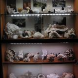 Both mineral display cabinets, all specimens from Skye and Arran. As before, lighting is six (2W) (4100K) LED strips; supplied by Paul Lowe. Each cabinet is 80cm across and 50cm high. (Author: Mike Wood)