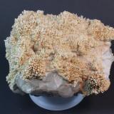 Aragonite, Quartz Monte Cristo Mine, Rush, Rush Creek District, Marion County, Arkansas, USA 21 x 17 cm (Author: Don Lum)
