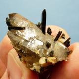 Aegerine, quartz and feldspar Mount Malosa, Zomba, Malawi. 32 x 24 x 16 mm Same as above. (Author: Pierre Joubert)